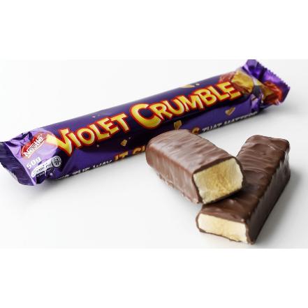 violet crumble rock pop candy